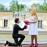 Фотосессия лав стори love story в усадьбе Кузьминки недорого