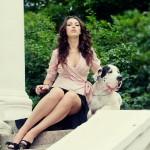 Фотосессия с собакой фэшн на пленере недорого