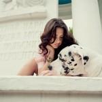 Фотосессия с собакой фэшн на улице недорого
