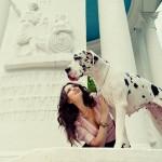 Фотосессия с собакой съемка фэшн на пленере недорого