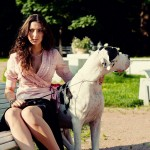 Фотосессия с собакой фотосъемка фэшн в парке недорого