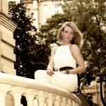 Фэшн ретро фотосессия на улицах Москвы