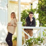 Лавстори фотосессия беременная на природе с мужем