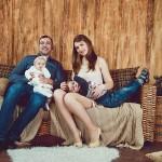 Новогодняя фотосессия в студии портрет семейства