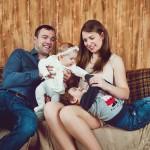 Фотосессия семьи с детьми в студии Москва