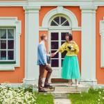 Лав стори фотосессия Анны и Валентина в Кусково