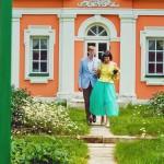 Лав стори фотосессия Анны и Валентина в Кусково съемка пары