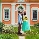 Лав стори фотосессия Анны и Валентина в Кусково съемка влюбленных