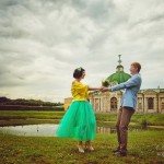 Лав стори фотосессия Анны и Валентина в Кусково движение грот лавстори