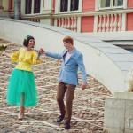 Лав стори фотосессия Анны и Валентина в Кусково лавстори влбленные лестница бегут радость весело нежность лето