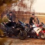 Открытие мотосезона 2014 в Орловском Москва фотограф Ольга Майорова девушки на мотоциклах фотосессия лавстори