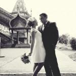 Свадьба, выездная церемония, во дворце Алексея Михайловича, Коломенское фото дождь