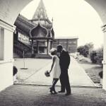 Свадьба, выездная церемония, во дворце Алексея Михайловича, Коломенское фото черно-белое весна дождь