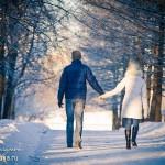 Фотосессия лав стори love story лавстори зимой на природе