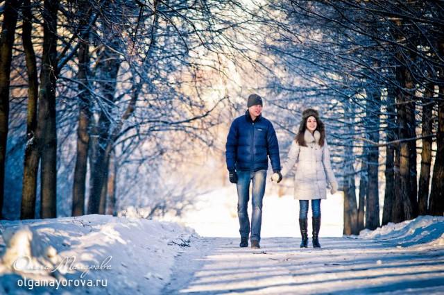 Фотосессия лав стори лавстори love story зимой на природе