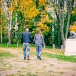 Фотосессия лав стори в Кузьминках осенью