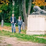 Осенняя Фотосессия лав стори в Кузьминках осенью