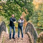 Осеняя фотосессия лав стори в Кузьминках осенью