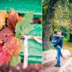 Осеняя фотосессия лав стори в Кузьминках осенью листья